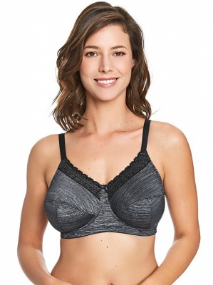 Royce Luna Non Wired Comfort Bra - Grey