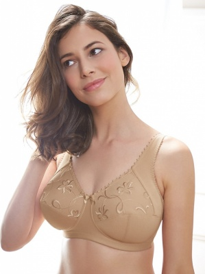 Royce Grace High Cotton Content Support Bra - Skin
