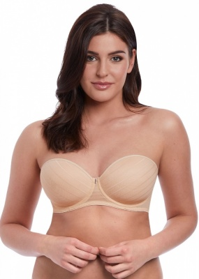 Freya Deco Cameo Moulded Strapless Bra - Sand