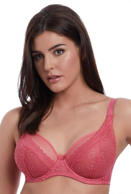 Freya Love Note High Apex Bra - Rose