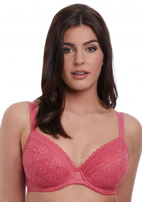 Freya Love Note Padded Plunge Bra - Rose