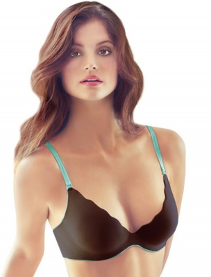B.Wow'd Push Up Multiway Bra - Chocolate/Aqua