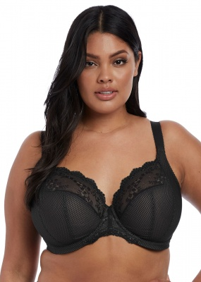 Elomi Charley Underwired Plunge Stretch Bra - Black