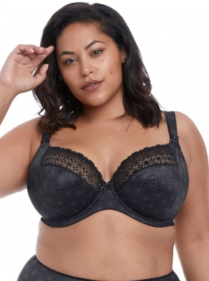 Elomi Kim Underwired Plunge Bra - Black