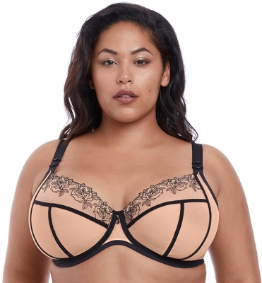 Elomi Tori Underwired Plunge Bra - Tattoo