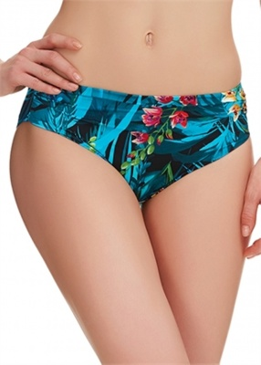 Fantasie Seychelles Mid Rise Gathered Bikini Brief - Azure