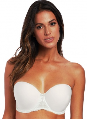 Fantasie Bronte Underwired Moulded Strapless Bra - Ivory