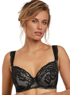 Fantasie Bronte Underwired Side Support Plunge Bra - Black
