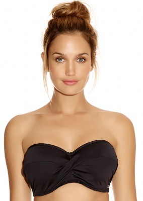 Fantasie Versailles Underwired Bandeau Bikini Top - Black