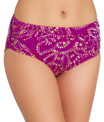 Fantasie Bora Bora Deep Gathered Bikini Brief - Amethyst