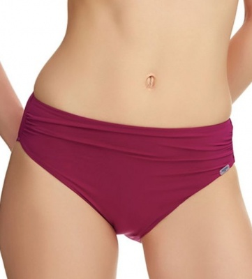 Fantasie Viana Mid Rise Gathered Bikini Brief - Berry