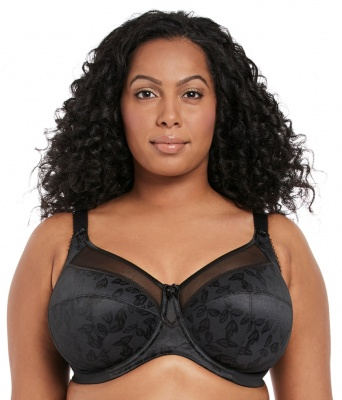 Goddess Petra Underwired Banded Bra - Black