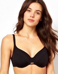 Panache Holly Balcony Bikini Top - Black