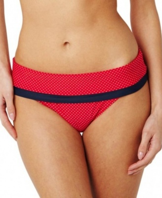 Panache Britt Fold Brief - Red Spot - Size 18