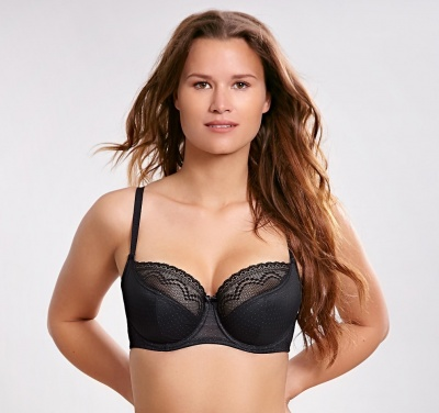 Cleo Hettie Underwired Balcony Bra - Black