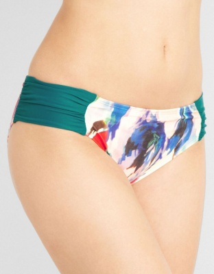 Panache Savannah Gathered Bikini Brief - Emerald - Size 20
