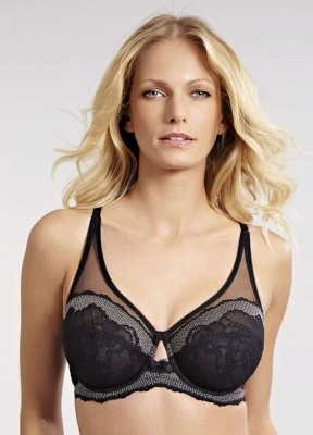 Panache Arla High Apex Balcony Bra - Black