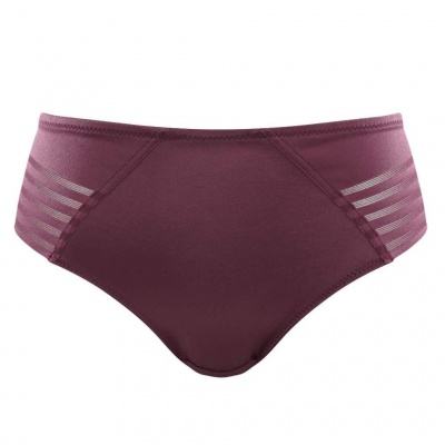 Panache Black Etta Brazilian Brief - Wine