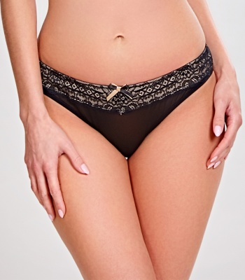 Panache Sophie Thong - Black/Nude