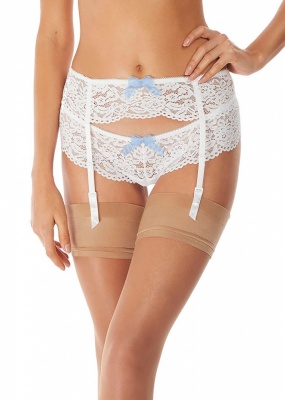 Ciao Bella Suspender Belt - Bridal White