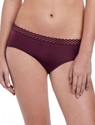 b.tempt'd Tied in Dots Hipster Brief - Grape Wine