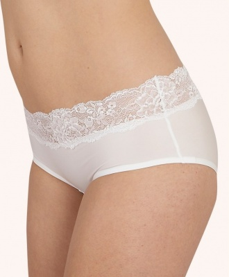 After Eden Sensitive Lace Boxer Brief - White