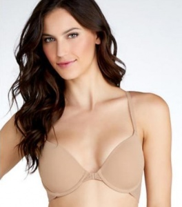 B.Tempt'd Full Bloom Front Fastening T-shirt Bra - Nude