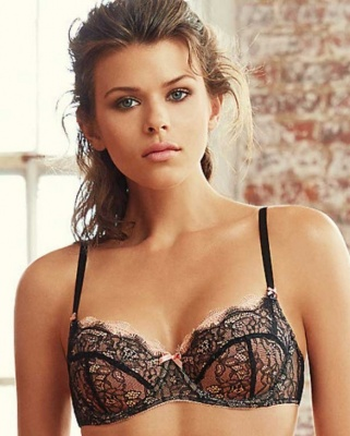 B.sultry Balconette Bra - Night/Peach