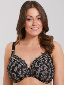 Elomi Nina Underwired Bandless Bra - Black - 42G