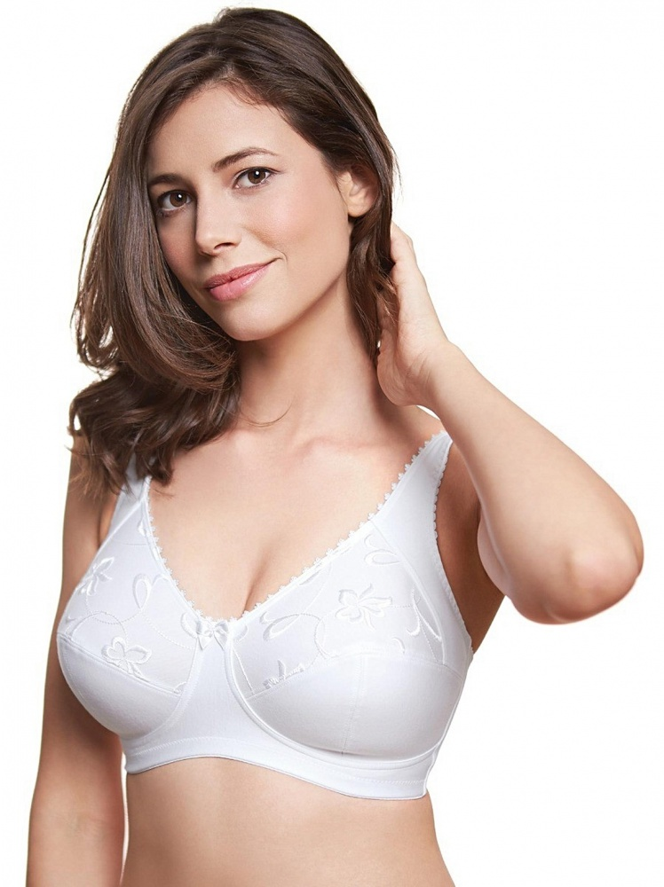 Royce Grace High Cotton Content Support Bra - White