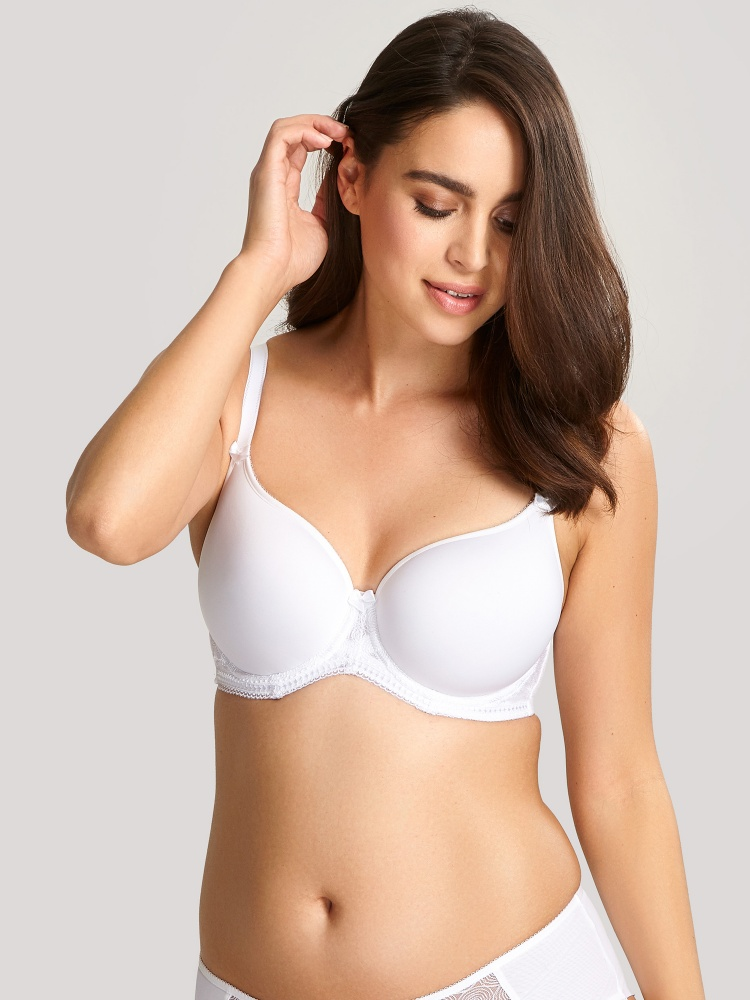 Panache Cari Moulded Spacer T-shirt Bra - White