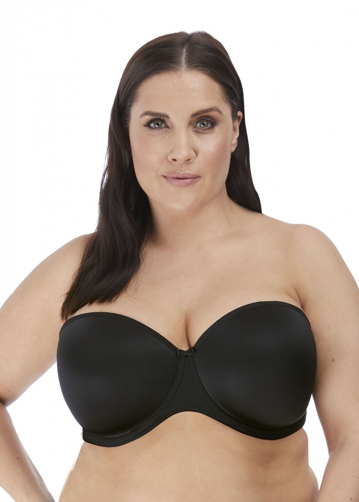 Elomi Smooth Moulded Strapless Bra - Black