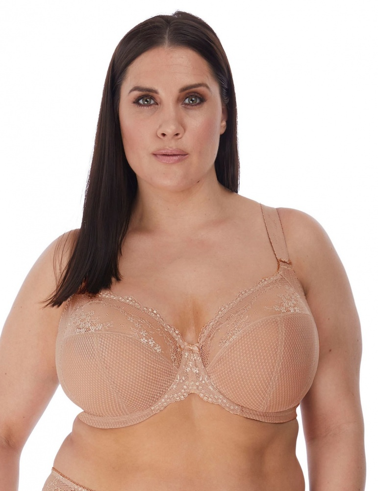 Elomi Charley Underwired Plunge Stretch Bra - Fawn