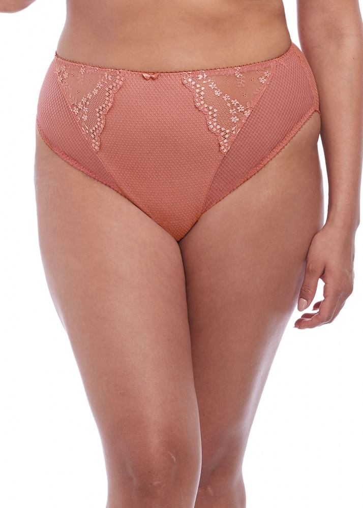 Elomi Charley High Leg Brief - Rose Gold
