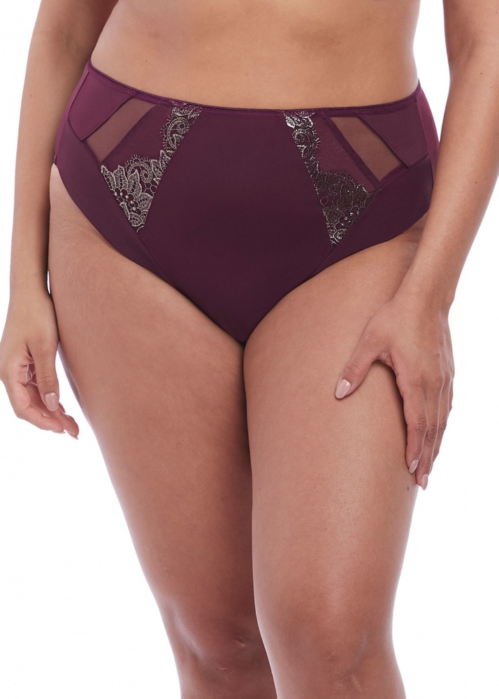 Elomi Eugenie High Leg Brief - Gilded Berry