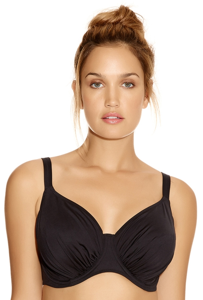 Fantasie Versailles Underwired Gathered Bikini Top - Black
