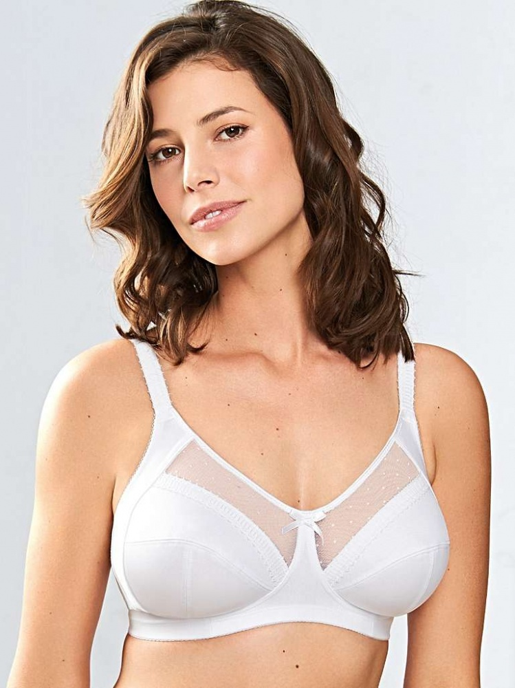 Royce Charlotte Non-Wired Support Bra - White
