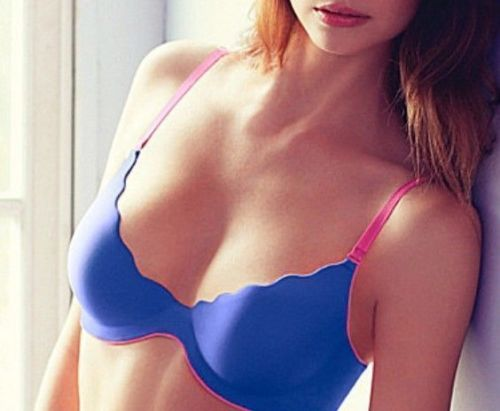 B.Wow'd Push Up Multiway Bra - Blue/Pink