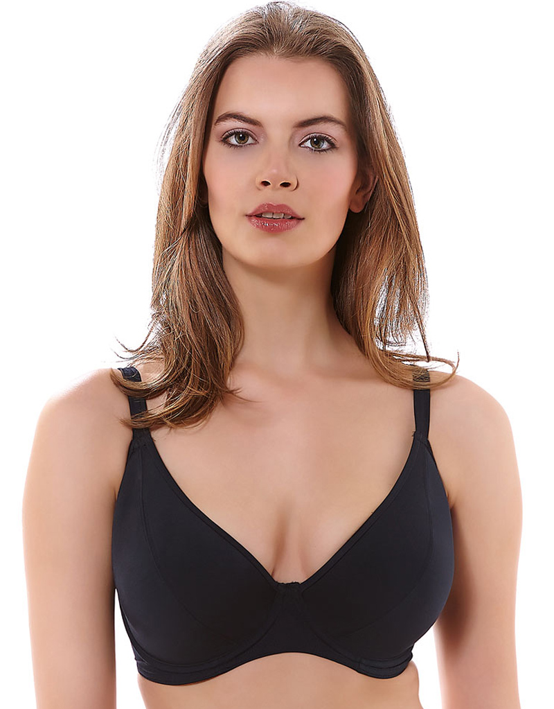 Freya In The Mix Padded Plunge Bikini Top - Black