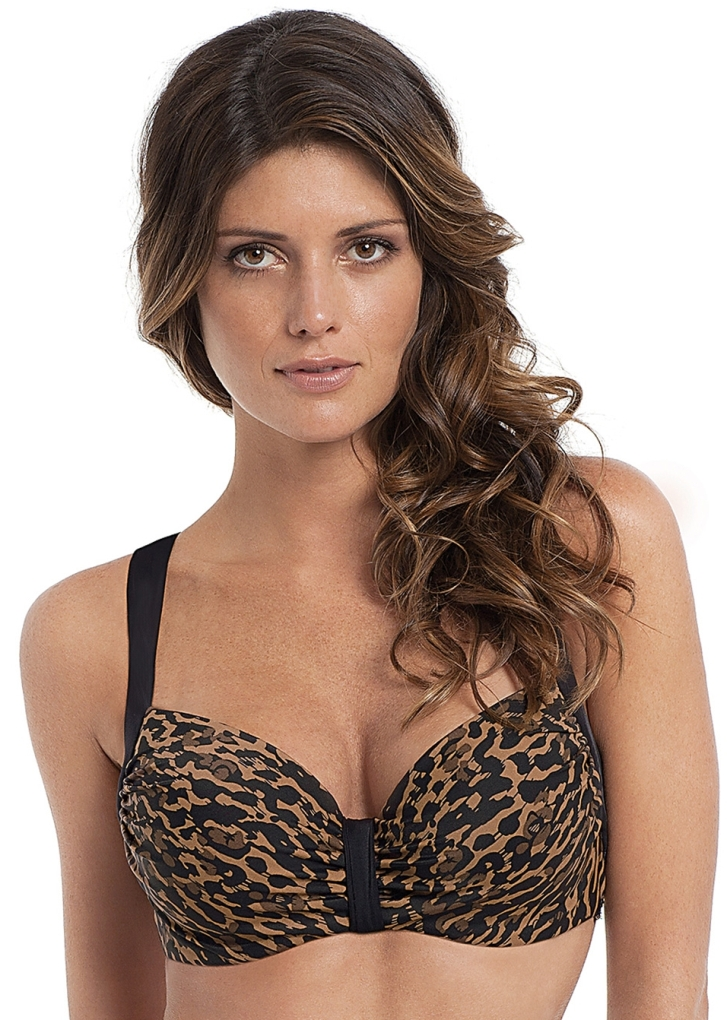 Panache Savannah Moulded Bikini Top - Animal Print - Size 34D