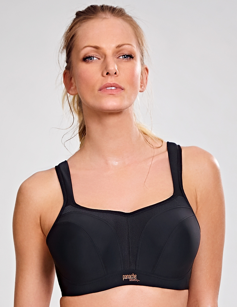 Panache Sport Underwired Sports Bra - Black