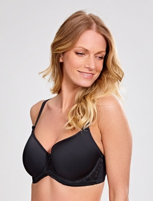 Panache Cari Moulded Spacer T-shirt Bra - Black