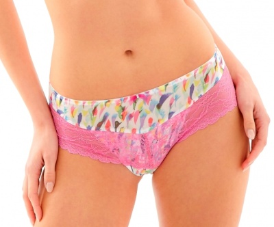 Panache Jasmine Brief - White Abstract